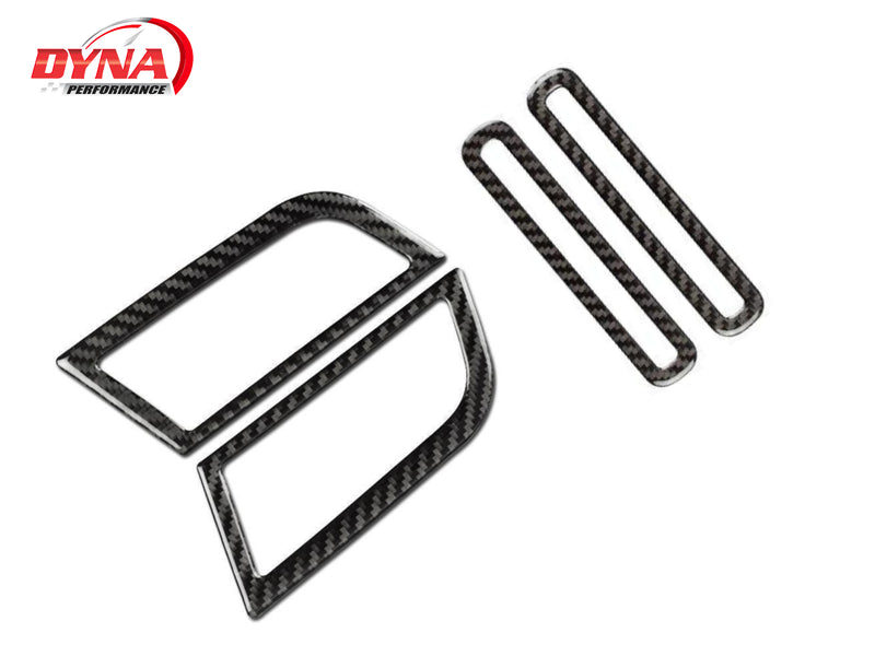 2015-20 Mustang - Side AC Vent Trim - Carbon Fiber - Dyna Performance