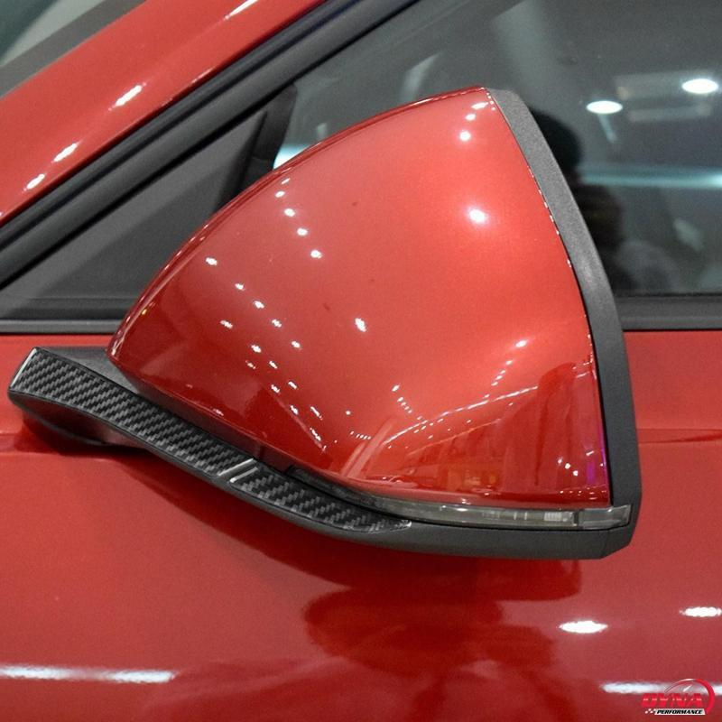 2015-20 Mustang - Side Mirror Trim Overlay - Carbon Fiber - Dyna Performance