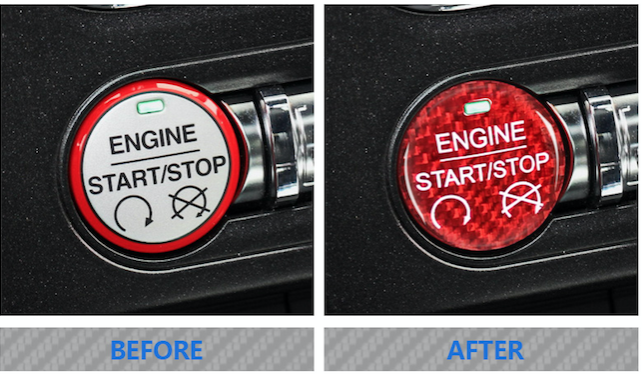 2015-20 Mustang - Start/Stop Button Overlay - Carbon Fiber - Dyna Performance