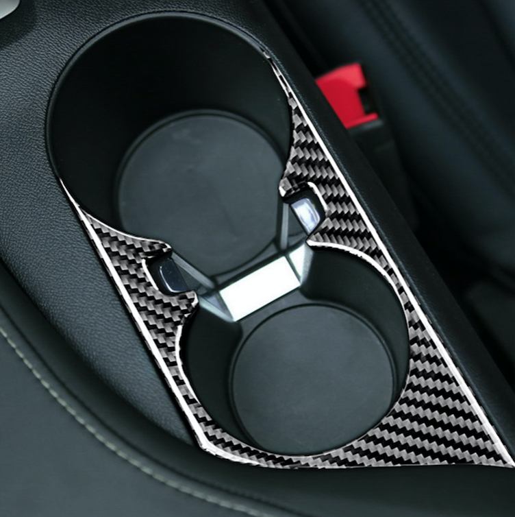 2016-20 Camaro - Cup Holder Trim Overlay - Carbon Fiber - Dyna Performance