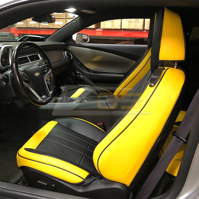 2010-15 Camaro - Seat Covers Front and Rear - Artificial Leather - Extreme Online Store