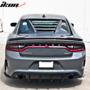2011-20 Charger - Rear Window Louver V2 - Ikon Motorsports