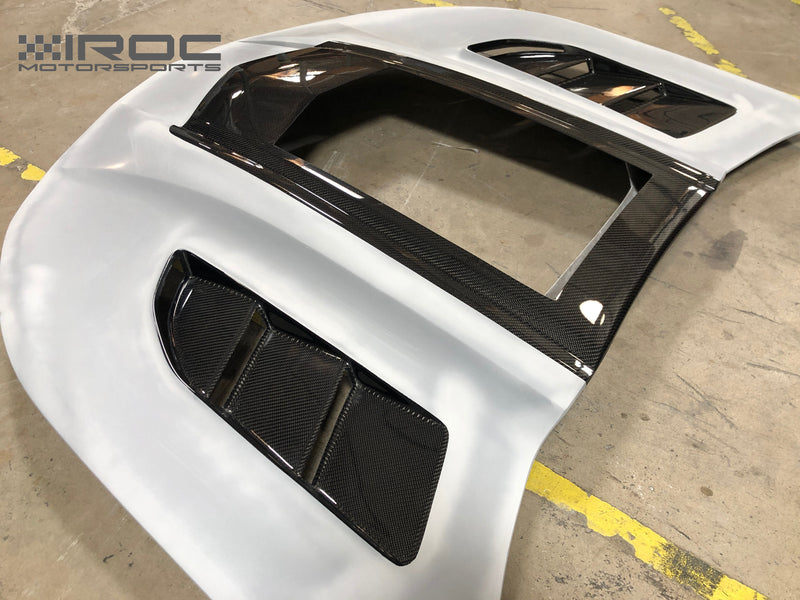 2016-21 Camaro - IROC-Z Hood With Window - Carbon Fiber - IROC Motorsports