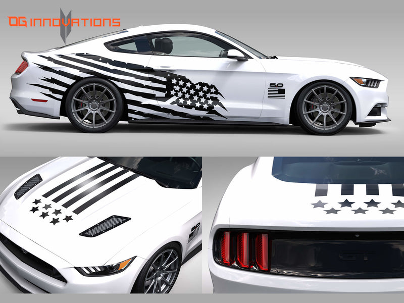 Decal - Battle Born with Stars and Stripes - Wrap - OG Innovations