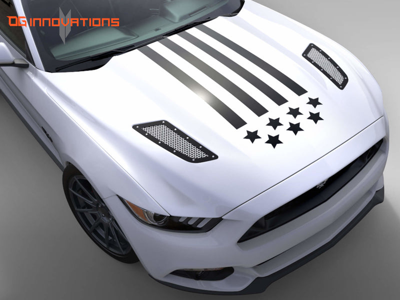 Decal - Stars and Stripes Hood Trunk - Wrap - OG Innovations