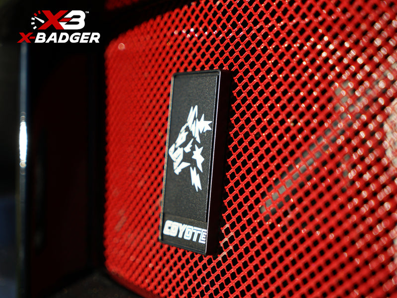 2015-20 Mustang - Alpha Coyote Badge - Billet Aluminum - Black - X-Badger