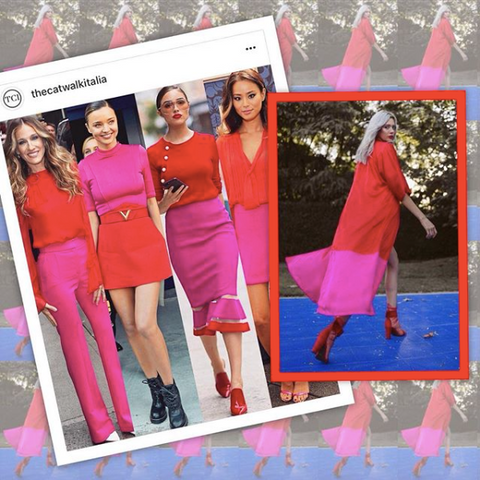 duster, red and pink, olivia culpo, miranda kerr, sarah jessica parker, styleinspo, celeb style