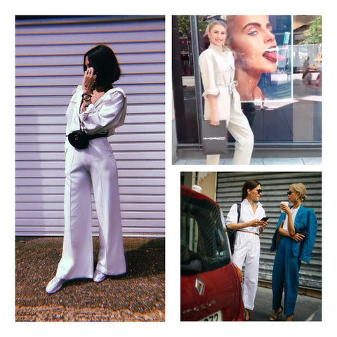 white jumpsuit overall louis vuitton virgil abloh Caro Daour styleheroine fashion blogger fashionista it girl celeb style