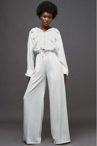KYNA COLLECTION 2 PCS 'LYDIA' JUMPSUIT - WHITE (PRE-ORDER)