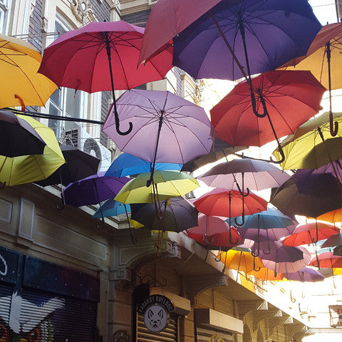Istanbul Umbrellas city discovery travel gallivant