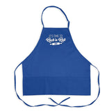 "Satin Ice ""Rock 'N Roll"" Adult Apron • Blue - Satin Ice"