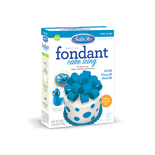 Satin Ice Blue Vanilla Fondant - 24oz. Box - Satin Ice