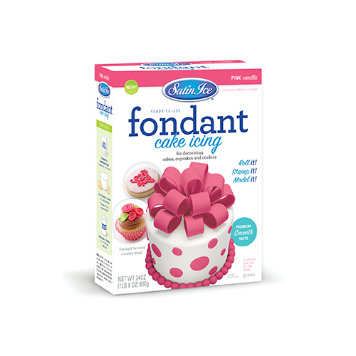 Satin Ice Pink Vanilla Fondant - 24oz. Box - Satin Ice