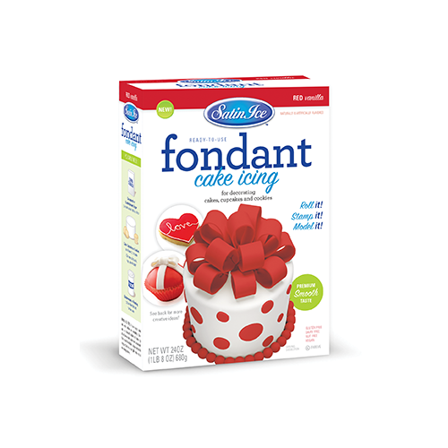Satin Ice Red Vanilla Fondant - 24oz. Box - Satin Ice
