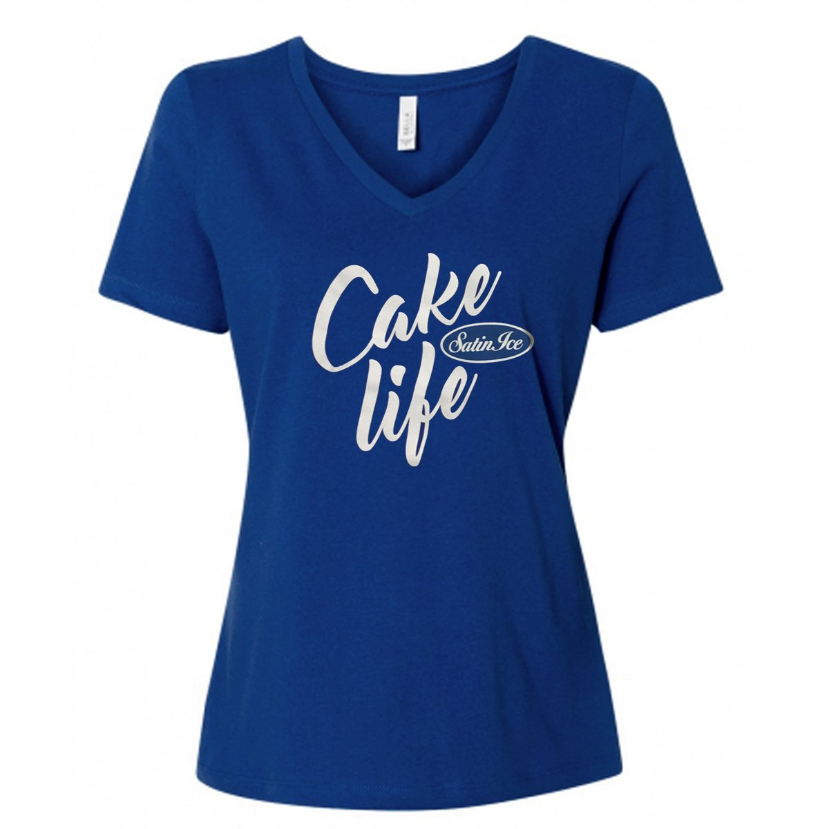 "Satin Ice ""Cake Life"" V-Neck T-Shirt • Blue - Satin Ice"