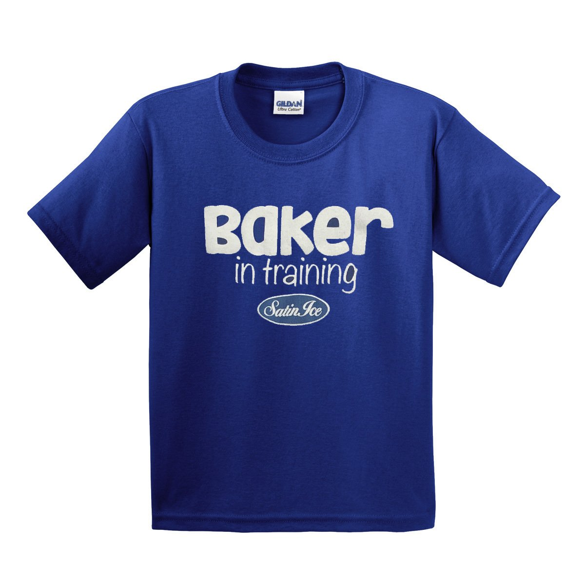 "Satin Ice ""Baker in Training"" Kids T-Shirt • Blue - Satin Ice"