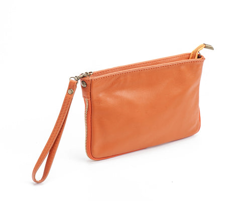 LAST ONE !  Consuelo Clutch - Orange