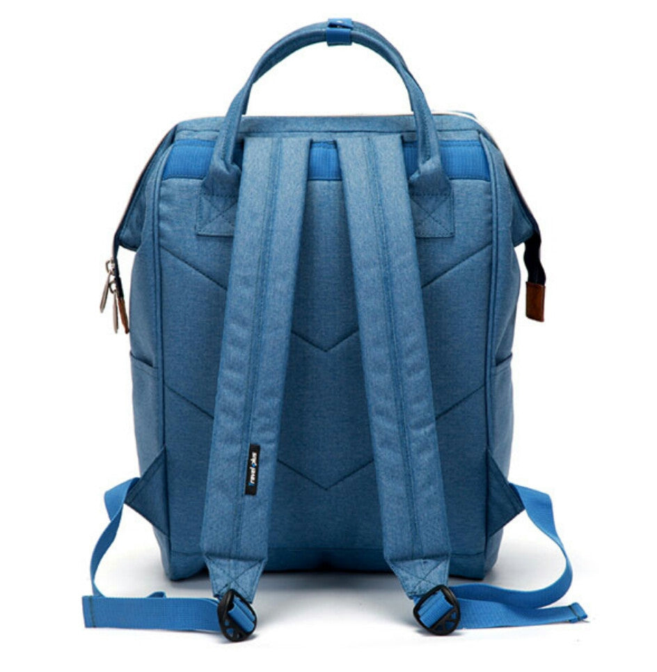 Travel plus light blue backpack