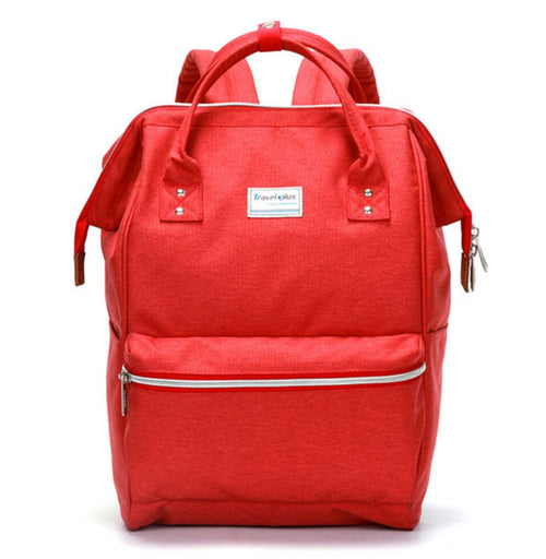 Travel plus red backpack