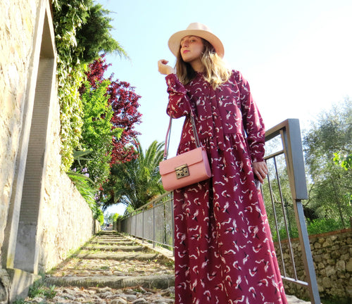 Maxi Bordeaux dress