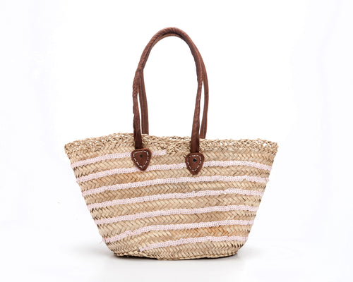 raffia bag with squins