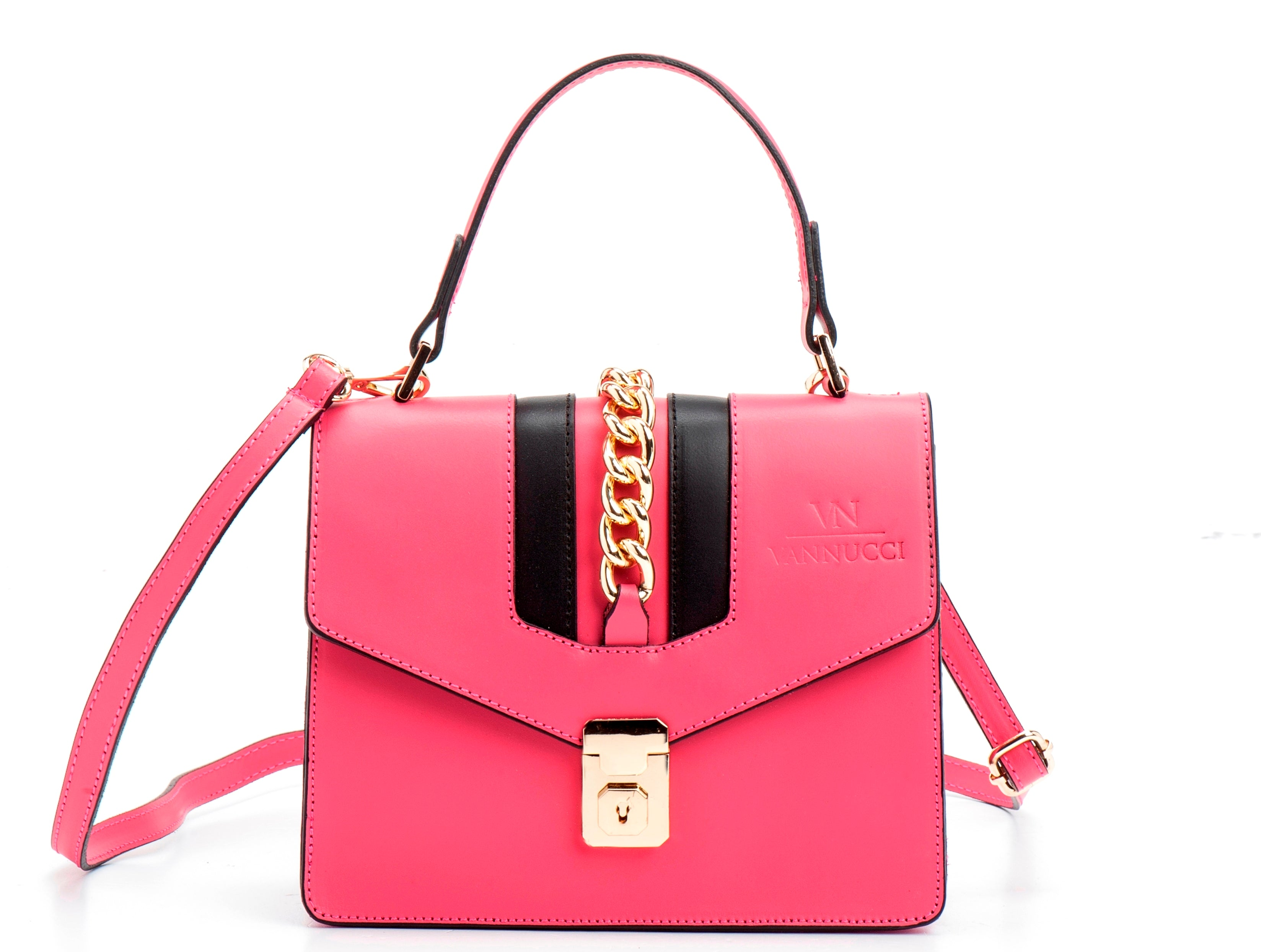 Veronica leather bag pink