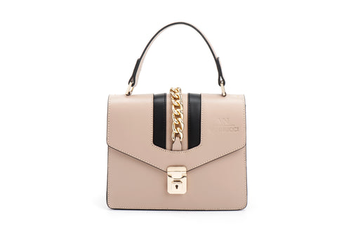 Veronica leather bag beige