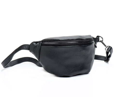 Leather Fannybag Black