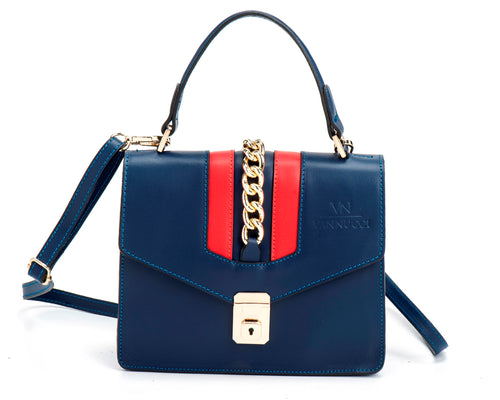 Veronica leather bag blue