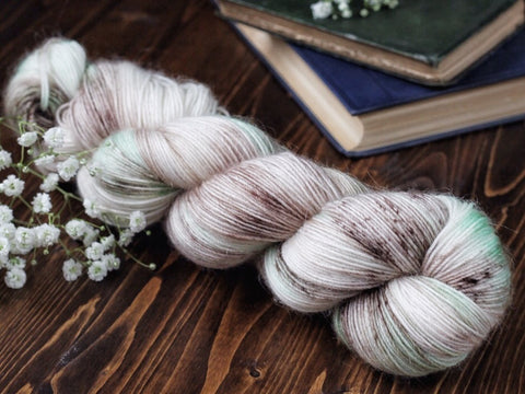 Fuzz - Amaze Mint - Mohair Blend Fingering Weight