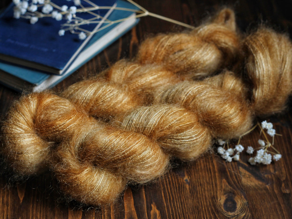 High Feather - Raw Honey - Lace Weight Mohair Silk