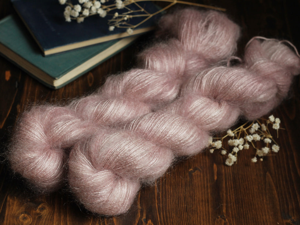 High Feather - Pale Persuasion - Lace Weight Mohair Silk