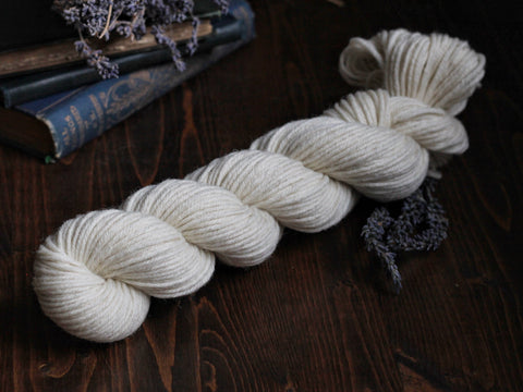 NEW! Classic Wool Worsted 50 gram skein- Natural Undyed