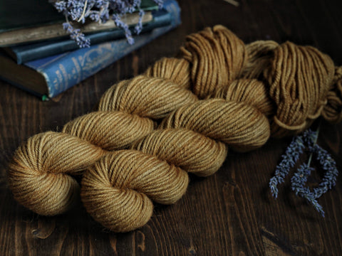 NEW! Classic Wool Worsted 50 gram skein- Raw Honey