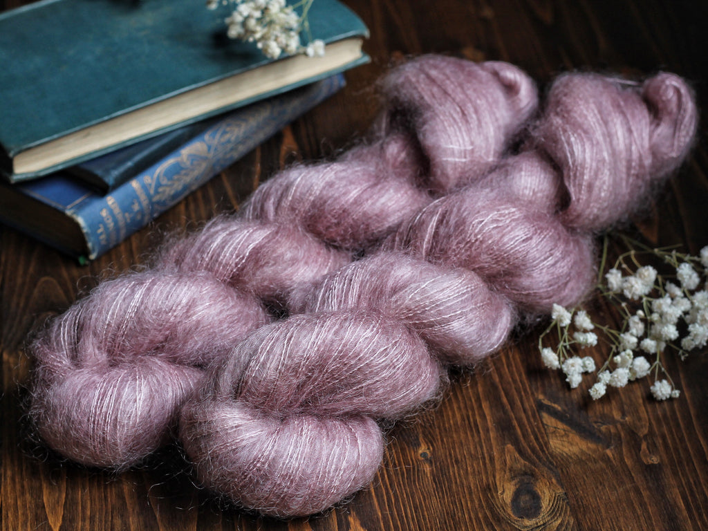 High Feather - Pale Persuasion (darker lot) - Lace Weight Mohair Silk