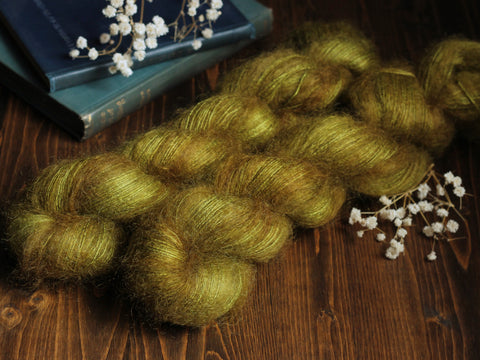 High Feather - Goldberry - Lace Weight Mohair Silk