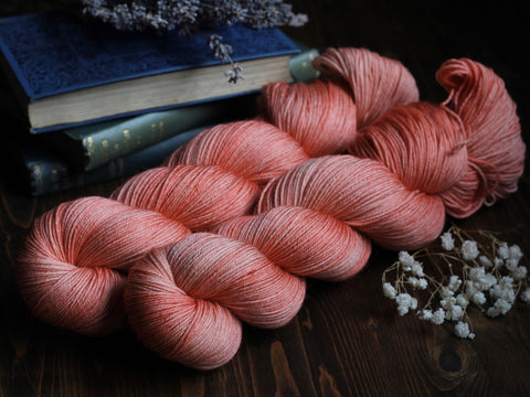 Bracken - Coral - Bluefaced Leicester Blend Fingering Weight