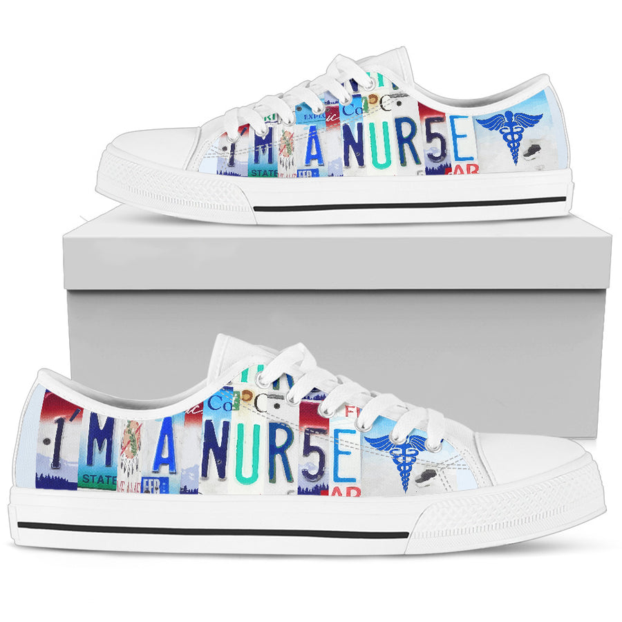 I'm A Nurse Low Top Shoes Men