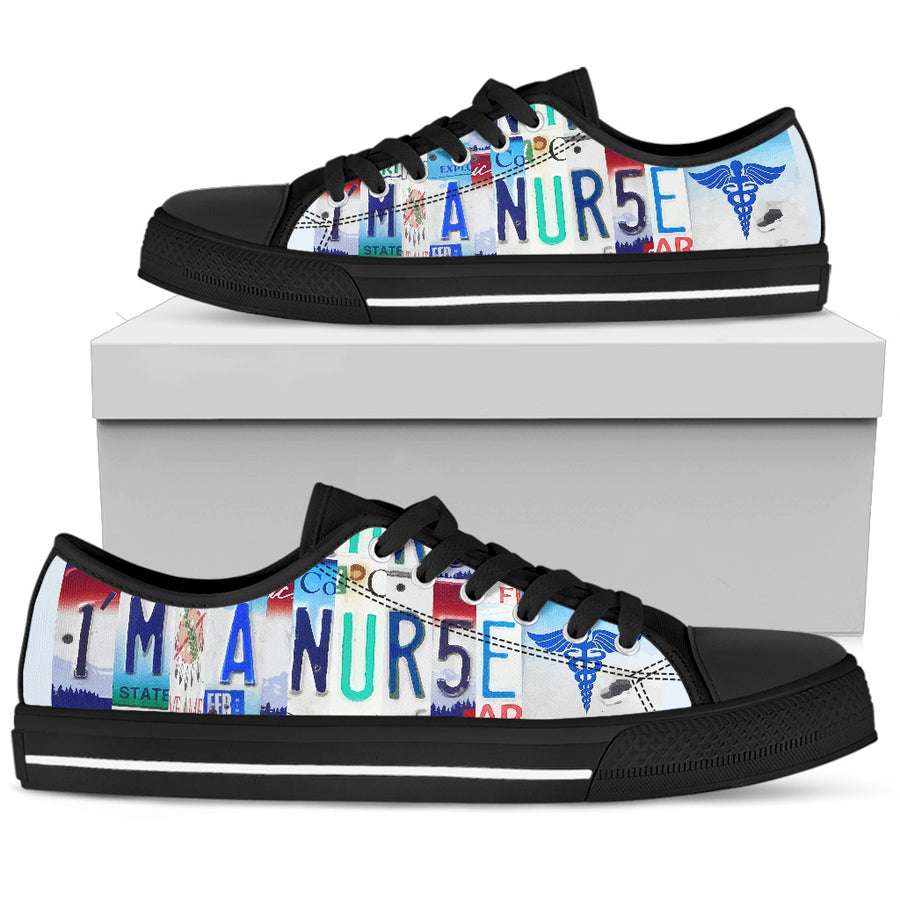 I Am A Nurse Low Top Shoes
