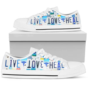 Live Love Heal Nurse Low Top Shoes