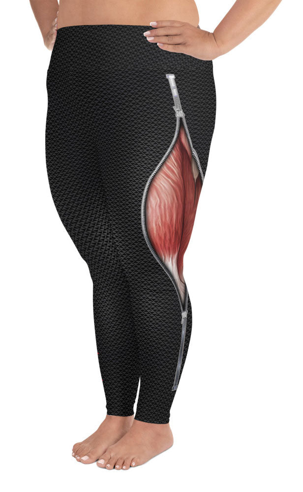 EKG Muscle Nurse Leggings Plus Size