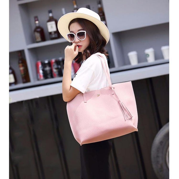 Soft Leather Tote Hand Bag