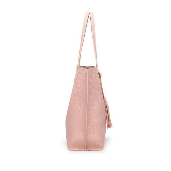 Soft Leather Tote Hand Bag side