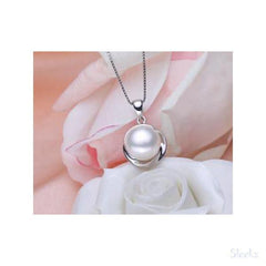 Sterling Silver Pearl Necklace White