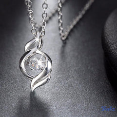 Sterling Silver Zircon Necklace Chain