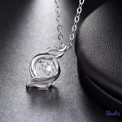 Sterling Silver Zircon Necklace Futon