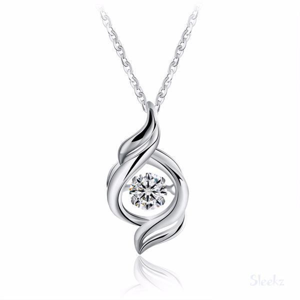 Sterling Silver Zircon Necklace