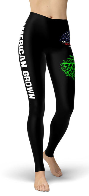 American Grown Irish Roots Leggings front