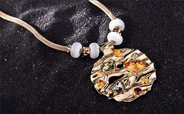Gold Austrian Rhinestone Necklace