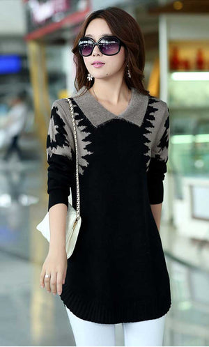 Black Elegant Dress Sweater
